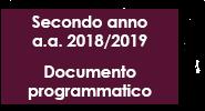 Documento programmatico - II anno a.a. 2018/2019